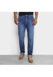 Calça Jeans Calvin Klein Slim Masculina - Masculino-Azul