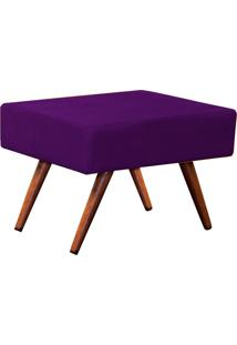 Puff Charme Suede Lymdecor Roxo