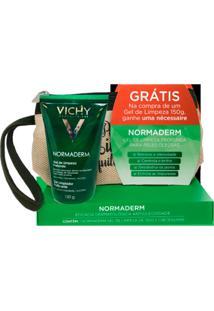 Kit Gel De Limpeza Vichy Normaderm 150G + Necessaire