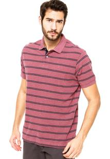 Camisa Polo Richards Listras Roxa