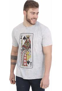 Camiseta Royal Brand Queen Of Spades Azul