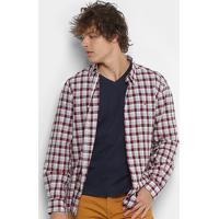 Camisa Xadrez Ellus Masculina - Masculino-Bordô 7905c83bffb4f