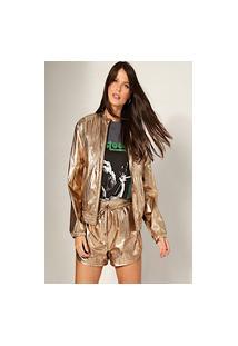 Jaqueta Metalizada Vida Bela Dourada