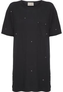 Camiseta Feminina Oversized Mall - Preto
