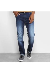 e7a0255cc3 ... Calça Jeans Slim Coca-Cola Regular Estonada Masculina - Masculino-Azul