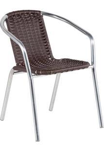 Cadeira De Alumínio Alegro 99, Tabaco