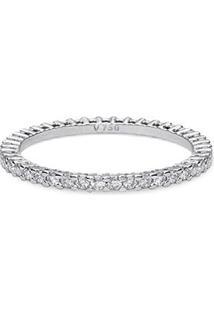 Aliança Absoluta Ouro Branco E 47,8 Pontos De Diamantes