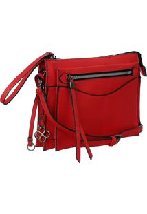 Bolsa Fedra F6522 Vermelho - Vermelho - Feminino - Dafiti