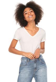 Camiseta Calvin Klein Jeans Logo Off-White