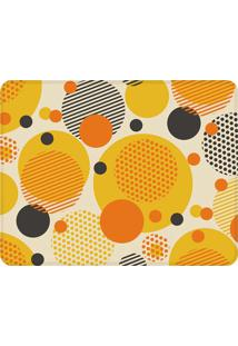Tapete Geométrico Círculo Moderno- Amarelo & Laranjawevans