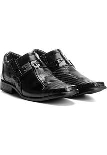 Sapato Social Walkabout 913 Masculino - Masculino-Preto