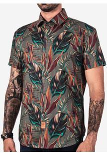 Camisa Hermoso Compadre Leafs Masculina - Masculino-Marrom