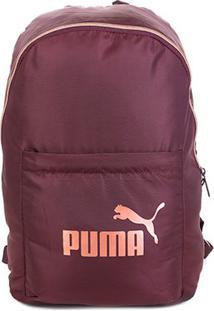 Mochila Puma Core Seasonal - Unissex-Vinho+Rosa