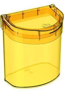 Lixeira De Pia Glass 2,7 Litros Amarelo Coza