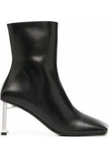 Misbhv Ankle Boot Com Bico Quadrado - Preto