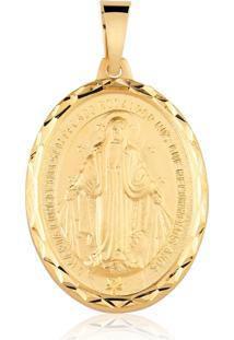 Pingente Nossa Senhora Das Graças Folheado A Ouro
