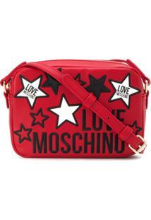 Love Moschino Bolsa Estrutura Com Aplicação De Estrelas - Vermelho
