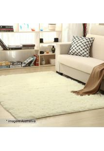 Tapete New Shaggy- Off White- 200X150Cm- Camesacamesa