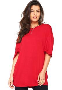 Camiseta Ampla Tufi Duek Vermelha
