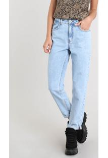 Calça Jeans Feminina Mom Pants Azul Claro