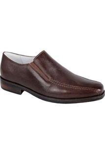 Sapato Social Side Gore Sandro Moscoloni Harrison Masculino - Masculino-Marrom Escuro