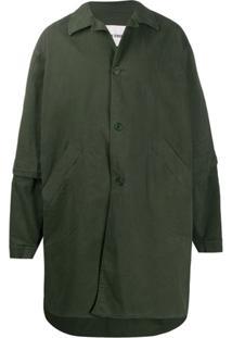 Henrik Vibskov Trench Coat Glue Oversized - Verde