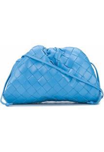 Bottega Veneta Bolsa The Mini Pouch Intrecciato - Azul