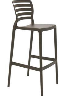 Cadeira Alta Sofia- Marrom Escuro- 104X49,5X47Cmtramontina