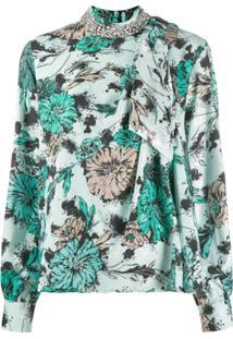 Pinko Embellished Collar Blouse - Verde
