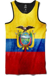 Regata Bsc Bandeira Equador Sublimada Preto