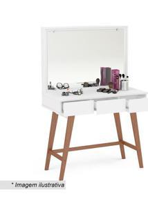 Penteadeira Ipanema Com 3 Gavetas- Espelhada & Branca