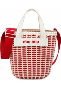 Miu Miu Woven Bucket Bag - Vermelho