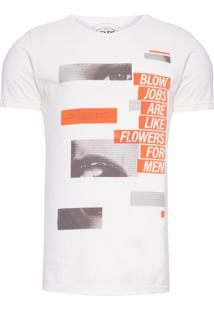 Camiseta Masculina Blow Jobs - Off White