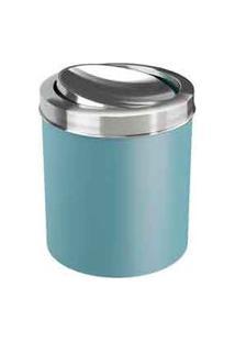 Lixeira Com Tampa Basc Azul Fog Em Aço Inox Com 5,4 Litros De Capacidade Coza