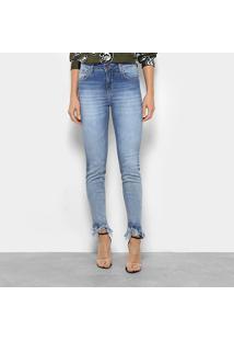 c7e79b2cb R$ 199,99. Zattini Calça Jeans Skinny Forum Marisa Barra Desfiada Cintura  Média Feminina - Feminino-Azul