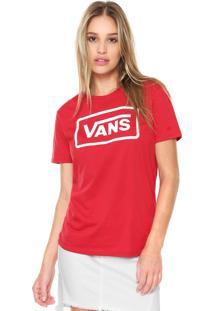 Camiseta Vans Boyfriend Boom Boom Boxy Vermelha
