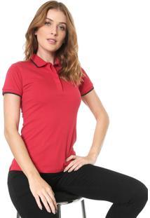 Camisa Polo Forum Listras Vermelha