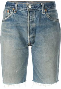 Re/Done Bermuda Jeans - Azul
