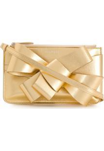 Delpozo Bolsa Clutch Present Com Laço - Dourado