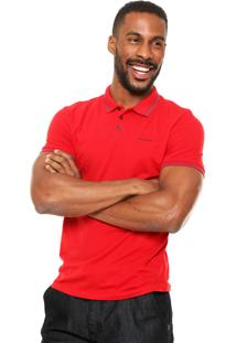 Camisa Polo Calvin Klein Jeans Mini Logo Vermelha