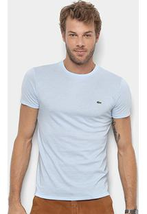 Camiseta Lacoste Básica Jersey Masculina - Masculino-Azul Piscina