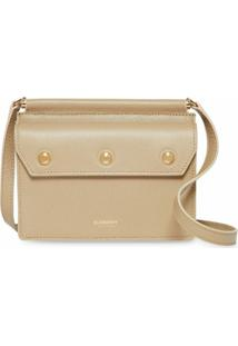 Burberry Bolsa Title Transversal Mini - Neutro
