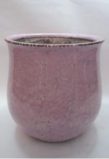 Vaso De Cerâmica Bojudo Rosa Med