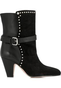 Red Valentino Red(V) Ankle Boots - Preto