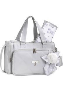 Bolsa Térmica Maternidade Masterbag Baby Anne Urso   Cor: Cinza