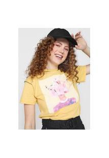 Camiseta Forever 21 Art Amarela