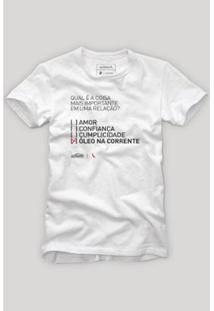 Camiseta Reserva Óleo Na Relação Masculina - Masculino-Branco