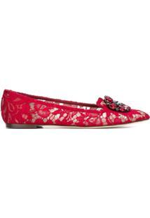 Dolce & Gabbana Slipper Modelo 'Vally' - Vermelho