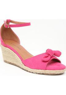 Sandã¡Lia Anabela Com Laã§O - Pink & Bege Claro- Saltoiã³Dice