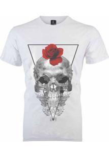 Camiseta João Homor Caveira Romântica Branca